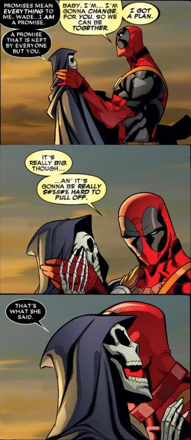 death and deadpool relationship to wolverine
