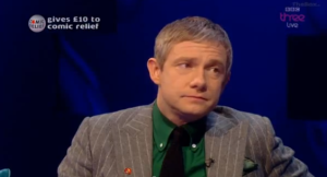 "Martin Freeman asking Norton to ""keep it clean."""