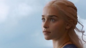 Daenerys Stormborn of House Targaryen, Mother of Dragons, but you can call her Khaleesi