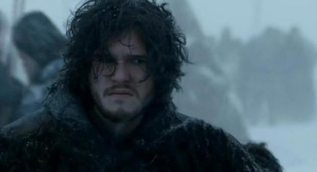 Jon Snow, pouting because he knows nothing.