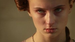 Sansa Stark.  I would not want to be on the receiving end of this glare.